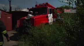 Луганск, 20 августа: во время обстрела снаряды попали в гаражи