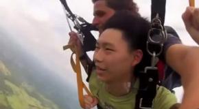 Обморок во время прыжка с парашютом