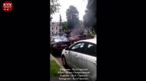 В центре Киева сгорел трехколесный мотоцикл, пострадали 3 авто