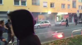 Драка фанатов Марибора с полицией