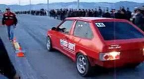 ВАЗ 2108 вздернул Nissan GTR