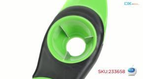 3-in-1 ABS Avocado Pitter Slicer - Green + Black