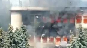Пожар в горсовете Дзержинска: люди выпрыгивали из окон (22.07)