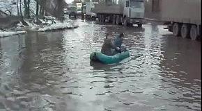 Воронежские рыбаки на автодороге