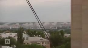 В Луганске сепаратисты обстреляли жилые кварталы из Града - Селезнев