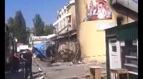В результате обстрелов в Донецке сгорел рынок