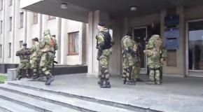 В Славянске обнаружили зеленых человечков