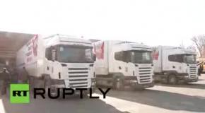 Российский гуманитарный конвой прибыл в Донецк и Луганск