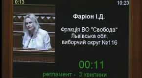 Ірина Фаріон: Вшанування Шевченка - це реалізація його заповітів