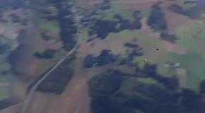 Коты прыгают с парашютом