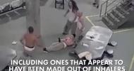 Реальная драка в американской тюрьме