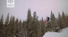 Снежный футбол на сноубордах