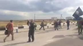 Татарское шествие в Чонгаре в честь годовщины Гражданской блокады Крыма