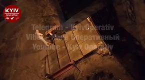 Избиение бездомного в Ирпене