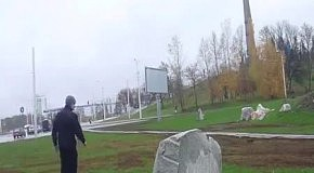 Камень победил паркурщика