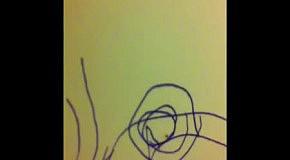 Троллинг паука шариковой ручкой