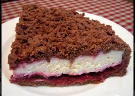 Творожный пирог с какао рецепт с фото