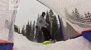 Сноубордический футбол: за кадром