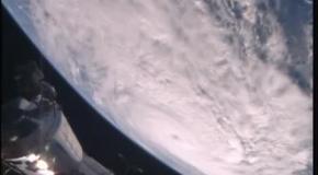 Циклон Дебби, снятый с борта МКС
