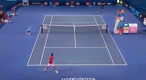 Жесткое попадание в теннисе