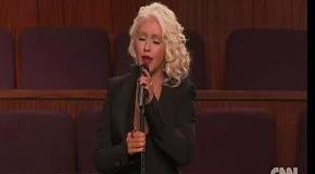 Christina Aguilera - At Last (Etta James Funeral)