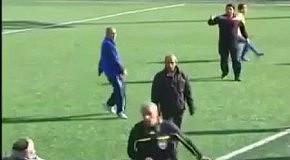 Избиение футбольного судьи остановили лишь военные с автоматами