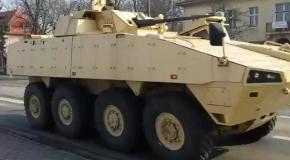 Польская бронетехника движется на восток страны