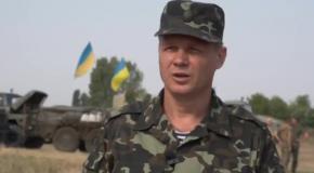 Спикер АТО Леонид Матюхин об обстреле позиций сил АТО с территории РФ