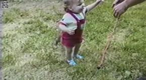 Щенок, малыш и попа