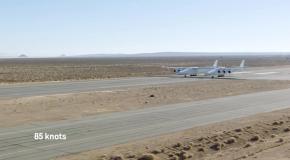 Испытание самого большого самолета попало на видео