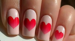 Милый маникюр ко Дню святого Валентина