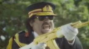 Муаммар Каддафи и самые жестокие диктаторы мира  в рекламе ресторана