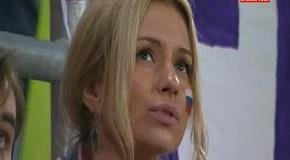 Очаровательная российская болельщица на матче с чехами (ЕВРО 2012)
