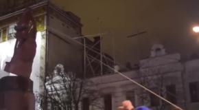 Как валили памятник Ленина в Киеве