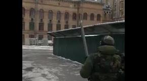 Испытания картошкострела на Майдане