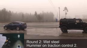 Кто кого: Tesla Model X против Hummer H2
