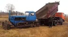 Доставка трактора по-челябински