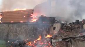 """Пожар в гостиничном комплексе """"Киевская Русь""""  в Буковеле"""