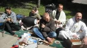 Kirtan in the park.Zhitomir