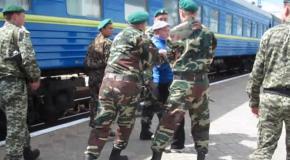 Проверка пассажиров при выезде из Крыма