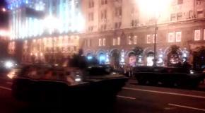 В Киеве провели ночную репетицию военного парада