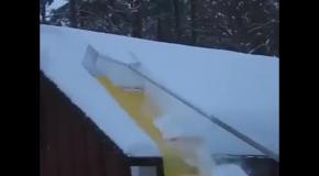 Лопата для очистки крыш от снега