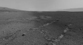 Curiosity on Mars from its landing site