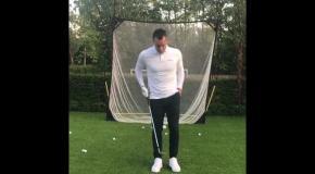 Легенда Челси эффектно пожонглировал мячиком для гольфа