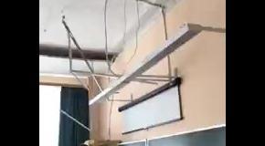 В российской школе на учеников обвалился потолок