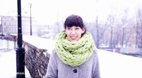 Как связать шарф-хомут за 30 минут