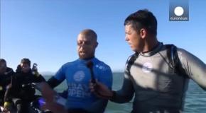 Акула напала на серфингиста