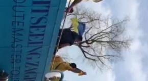 Украинцы оккупировали центр Загреба