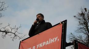Олег Сиротюк на Майдані в Полтаві