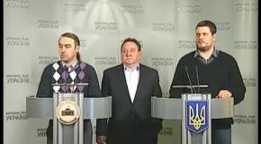 Брифінг народних депутатів-свободівців щодо інциденту в НТКУ